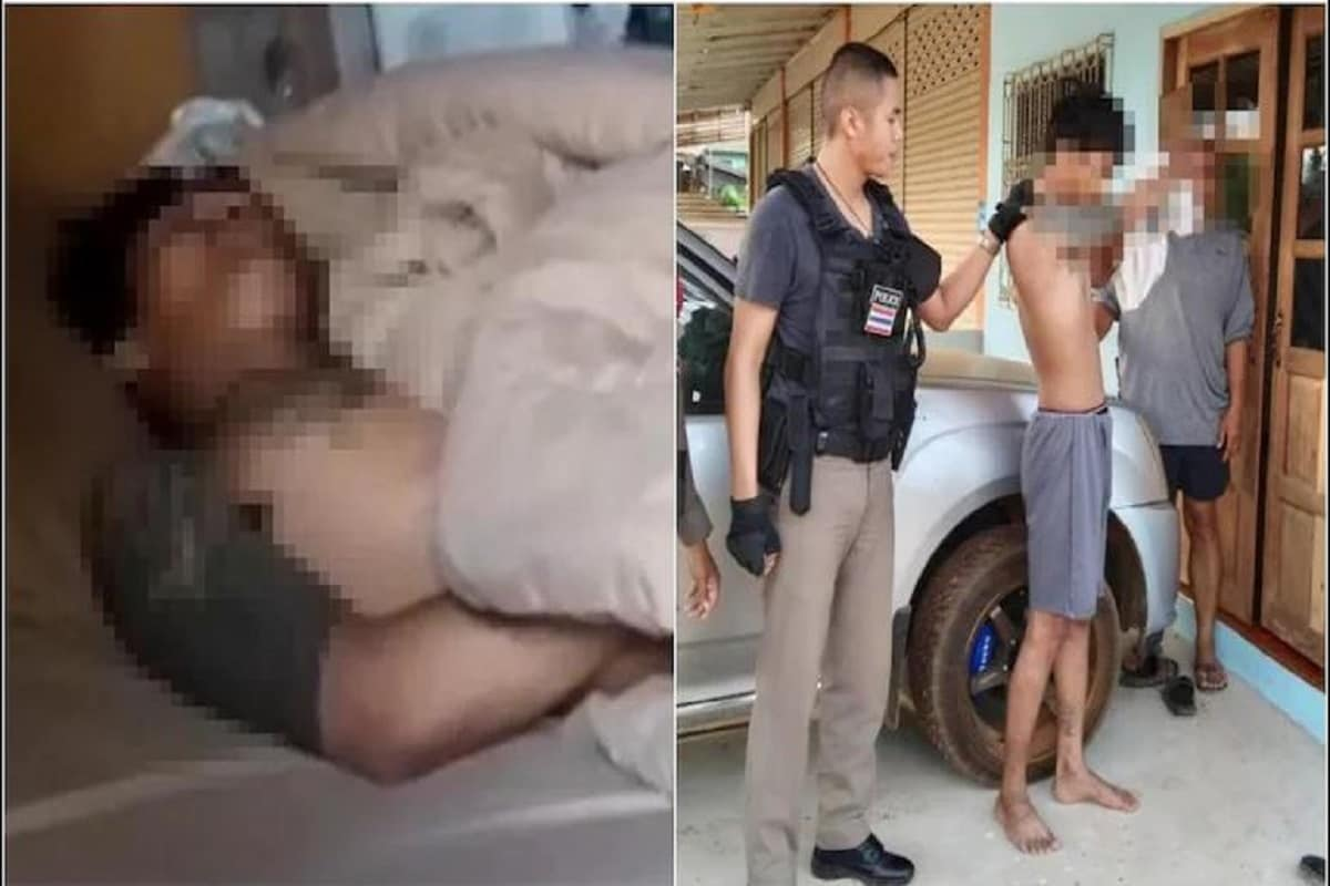 Thai man falls asleep at house he was trying to rob- Photo Courtesy- Facebook/tnewssurin