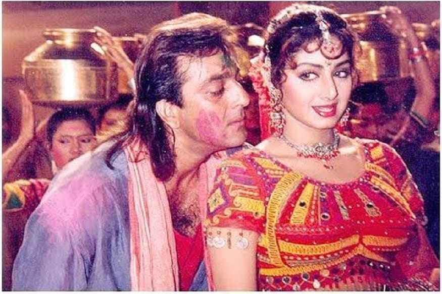 Sridevi was scared off to act in opposite of srunken Sanjay Dutt -Photo- Youtube video grab