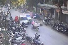CCTV : સુરતમાં એમ્બ્યુલન્સે પાંચને ઉડાવ્યા, એકનું મોત, જોવો Video