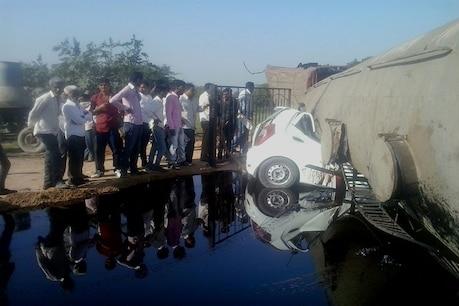 તારાપુરમાં ટેન્કર નીચે વડોદરા પાર્સિંગની કાર ઘુસી જતાં 2ના મોત