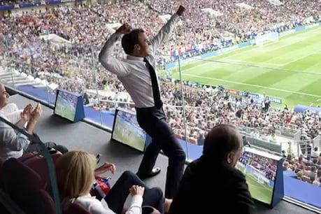 FIFA: ટીમ ચેમ્પિયન બનતા જ ફાંસના રાષ્ટ્રપતિ નાચવા લાગ્યા