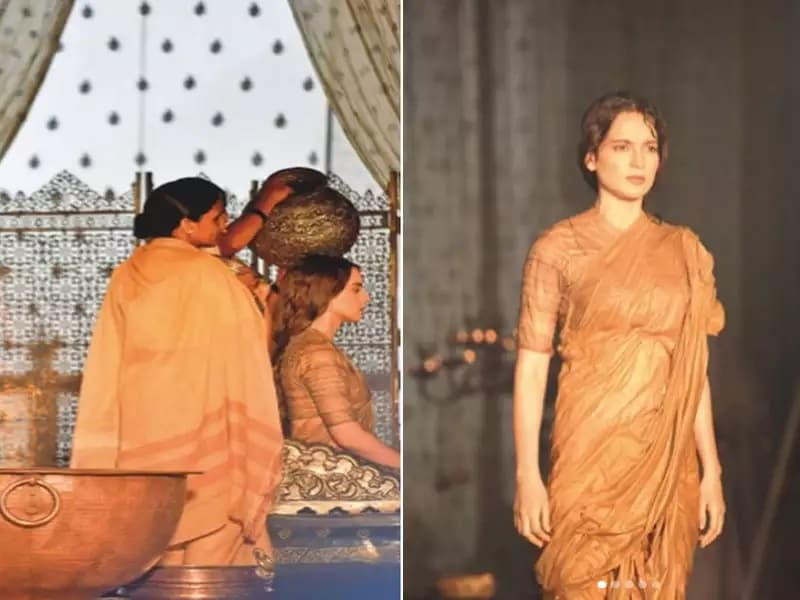 ફિલ્મ 'મણિકર્ણિકા-ધ ક્વિન ઓફ ઝાંસી'ની ઓન લોકેશનની તસવીર