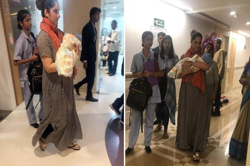 ટેનિસ સ્ટાર ખેલાડી સાનિયા મિર્ઝા હાલમાં જ દીકરાને જન્મ આપ્યો છે. તેનાં પિતા અને પાકિસ્તાની ક્રિકેટર શોએબ મલિકે સોશિયલ મીડિયા પર ટ્વિટ કરીને પિતા બન્યાની માહિતી શેર કરી હતી. અને હવે સોશિયલ મીડિયા પર સાનિયા મિર્ઝાનાં દીકરાની સાથેની તસવીરો વાઇરલ થઇ રહી છે.