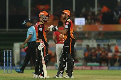 KXIP vs SRH: ડેવિડ વોર્નર ઝળક્યો, હૈદરાબાદનો 45 રને વિજય