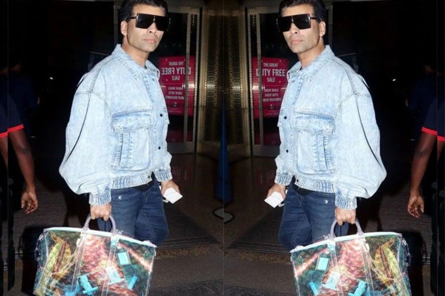 હાલમાં કરણ જોહર એરપોર્ટ પર સ્પોટ થયો ત્યારે તેણે The rainbow Louis Vuittonની બ્રાન્ડેડ બેગ લીધી હતી જેનો ભાવ 10,495 ડોલર હતો એટલે કે 7,28,695 રૂપિયા. આ સમયે તેણે જે જિન્સનું જેકેટ પહેર્યુ હતું તેનો ભાવ પણ એક લાખથી વધુનો છે.
