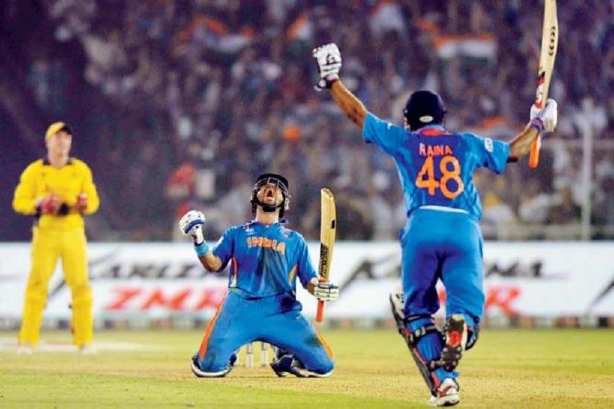 57* રન વિ. ઓસ્ટ્રેલિયા, વર્લ્ડ કપ 2011 - યુવરાજ સિંહની આ ઇનિંગ્સની જેટલી પ્રશંસા કરવામાં આવે તેટલી ઓછી છે. 2011ના વર્લ્ડ કપમાં બીજી ક્વાર્ટર ફાઇનલમાં ભારતે ઓસ્ટ્રેલિયા સામે ધમાકેદાર જીત મેળવી હતી. યુવીએ 65 બોલમાં અણનમ 57 રનની ઇનિંગ્સ રમી હતી. આ સમયે યુવી કેન્સરથી ગ્રસ્ત હતો પણ ખુલાસો થયો ન હતો. 260 રનના લક્ષ્યાંકને ભારતે 5 વિકેટ ગુમાવી વટાવી લીધો હતો. મેચ જીત્યા પછી યુવરાજ ઘણો ભાવુક થયો હતો અને વિજયી ફોર ફટકાર્યા પછી ઘૂંટણના બળે પિચ ઉપર બેસીને જીતની ઉજવણી કરી હતી.