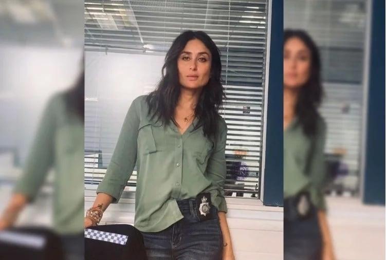 આગામી ફિલ્મમાં કરીના એક પોલીસ અધિકારીની ભૂમિકામાં જોવા મળશે. જાહેર છે કે સ્ટાઇલમાં તેને કોઇ હરાવી શકે નહીં. અહીં તે ખૂબ જ સ્ટાઇલીશ પોલીસ બનેલી જોવા મળી. તસવીરમાં કરીનાએ સ્કિન કલરના ટોપ સાથે બ્લૂ કલરનું જિન્સ પહેર્યુ છે. સાથે જ તેણીએ બ્લેક સુઝ કેરી કર્યા છે. બીજી તસવીરમાં તેને ગ્રીન કલર શર્ટ પહેર્યો છે.