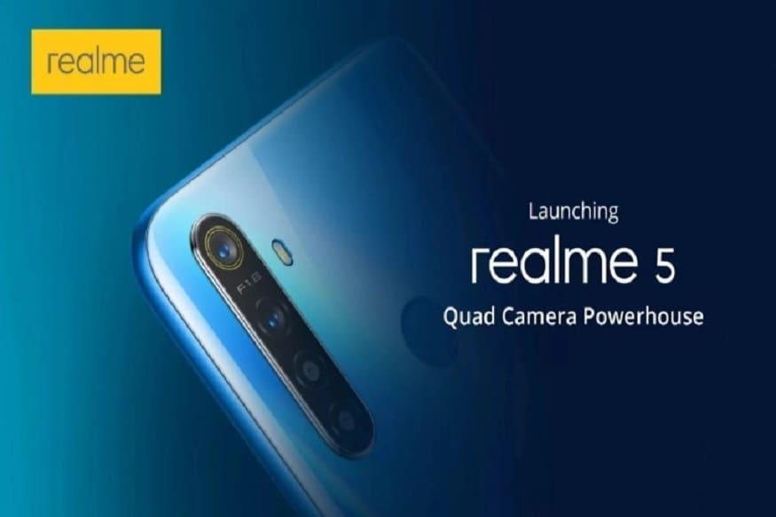 રિયલમી 5 ના કૅમેરાની વાત કરીએ તો તેમાં ચાર કૅમેરા છે ફોનમાં 12 મેગાપિક્સલનો પ્રાઇમરી કૅમેરો છે. આ ઉપરાંત 8 મેગાપિક્સલનો અલ્ટ્રા-વાઇડ કૅમેરો છે. ક્વાડ કૅમેરા સેટઅપમાં 2 મેગાપિક્સલનો મેક્રો લેન્સ અને 2 મેગાપિક્સલનો પોટ્રેટ લેન્સ પણ છે.