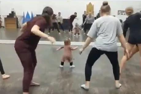 મહિલાઓને જિમ કરાવે છે નાની બાળકી, VIDEO જોઈ દિલખુશ થઈ જશે