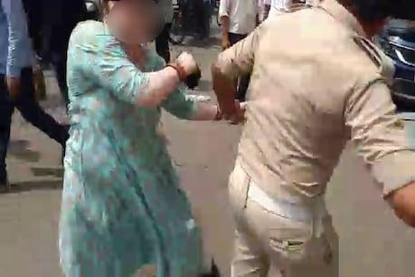 સુરતઃ દંડ ભરવાનું કહેતા મહિલાએ પોલીસ સાથે કરી મારામારી, viral video