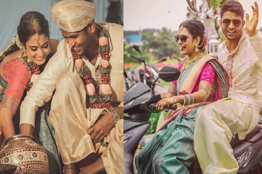 ભારતના સ્થાનિક ક્રિકેટર સ્ટાર ઑલરાઉન્ડર (Allrounder Cricketer) કૃષ્ણપ્પા ગૌતમ (Krishnappa Gautam) લગ્ન ગ્રંથીથી બંધાઈ ગયો છે. તેણે ગર્લફ્રેન્ડર અર્ચના સુંદર (Archana Sundar)ને પોતાની હમસફર બનાવી દીધી છે. લગ્ન બાદ ગૌતમ અને અર્ચનાની સ્કૂટી પર સવાર થયેલી તસવીર ખૂબ શૅર થઈ રહી છે.