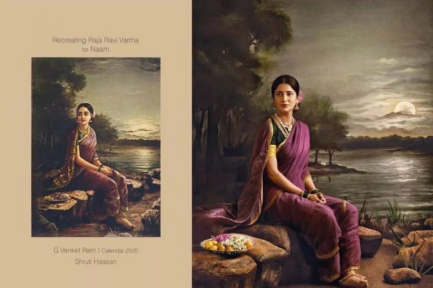 સામંથાએ કેપ્શનમાં લખ્યું કે, નામ માટે રાજા રવિ વર્માના કામને રિક્રિએટ કરવા માટે આપની સાથે કામ કરીને ઘણું સારું લાગી રહ્યું છે. આ સાર્થક પ્રોજેક્ટનો હિસ્સો બનવાથી હું ખૂબ ખુશ છું. (Image: G.Venket Ram/Instagram)