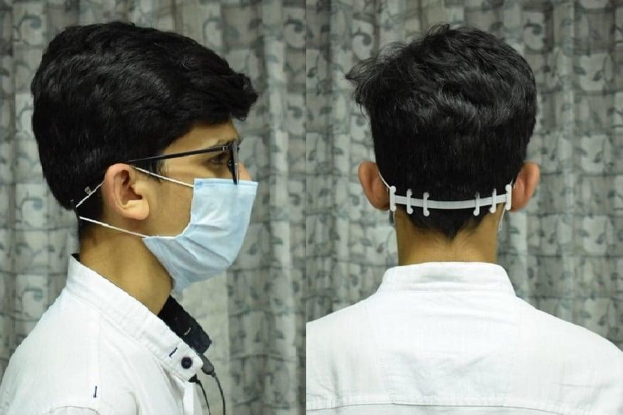 આમ તો કોરોના વાયરસના (coronavirus) વધતા કેસ ને અટકાવવા માટે દરેક લોકોએ માસ્ક (Mask) પહેરવું ફરજીયાત છે. પણ શું તમને માસ્ક પહેરતા સમયે કાનનો (Ears Pain) દુઃખાવો થાય છે. તો આવી ગયો છે તેનો પણ ઉપાય. ગુજરાત ટેકનોલોજીના (GTU) એન્જીનીયરીંગના વિદ્યાર્થીઓએ તેનો શોધી કાઢ્યો છે. વિદ્યાર્થીઓએ બનાવ્યું છે એક એવું માસ્ક હોલ્ડર જેનાથી માસ્ક પહેરતા કાનનો દુઃખાવો નહીં થાય. વિદ્યાર્થીઓ એ આ માસ્ક હોલ્ડર કોરોના વોરિયર્સ (corona warriors) એવા ડોક્ટરસ, પોલીસને નહી નફો નહી નુકસાન ધોરણે આપી રહ્યા છે. (સંજય ટાંક, અમદાવાદ)