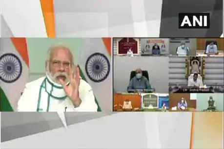 PM મોદીએ 7 રાજ્યોના CM સાથેની મિટિંગમાં કહ્યું - કોરોના જાગરૂકતા માટે દરરોજ 1 કલાક આપો