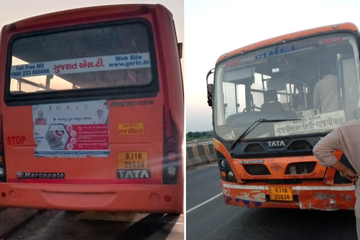 દીપક પટેલ, નર્મદા: ગુજરાત સ્ટેટ ટ્રાન્સપોર્ટ (Gujarat State Transport Bus)ની બસના એક ડ્રાઇવરે ચાલુ ફરજ દરમિયાન નદીમાં કૂદી ગયાનો બનાવ સામે આવ્યો છે. ડ્રાઇવરે મુસાફરો ભરેલી બસ (ST bus) અચાનક થોભાવી દીધી હતી અને બાદમાં કોઈ કંઈ પણ વિચારે તે પહેલા જ પુલ પરથી નદીમાં કૂદી ગયો હતો. આ સમગ્ર મામલે વધારે તપાસ કરવામાં આવી રહી છે. ડ્રાઇવરે રાજપીપળા (Rajpipla to Vadodara ST Bus)થી બસ લઈને વડોદરા શહેર ખાતે આવી રહ્યો હતો.