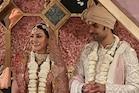 Kajal Aggarwalનાં લગ્નની  તસવીર આવી સામે, વર-વધુ જયમાળા પહેરેલાં આવ્યાં નજર