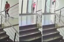 રાજકોટ: યુવકે 12મા માળેથી કૂદીને કર્યો આપઘાત, બનાવ સીસીટીવીમાં કેદ થયો