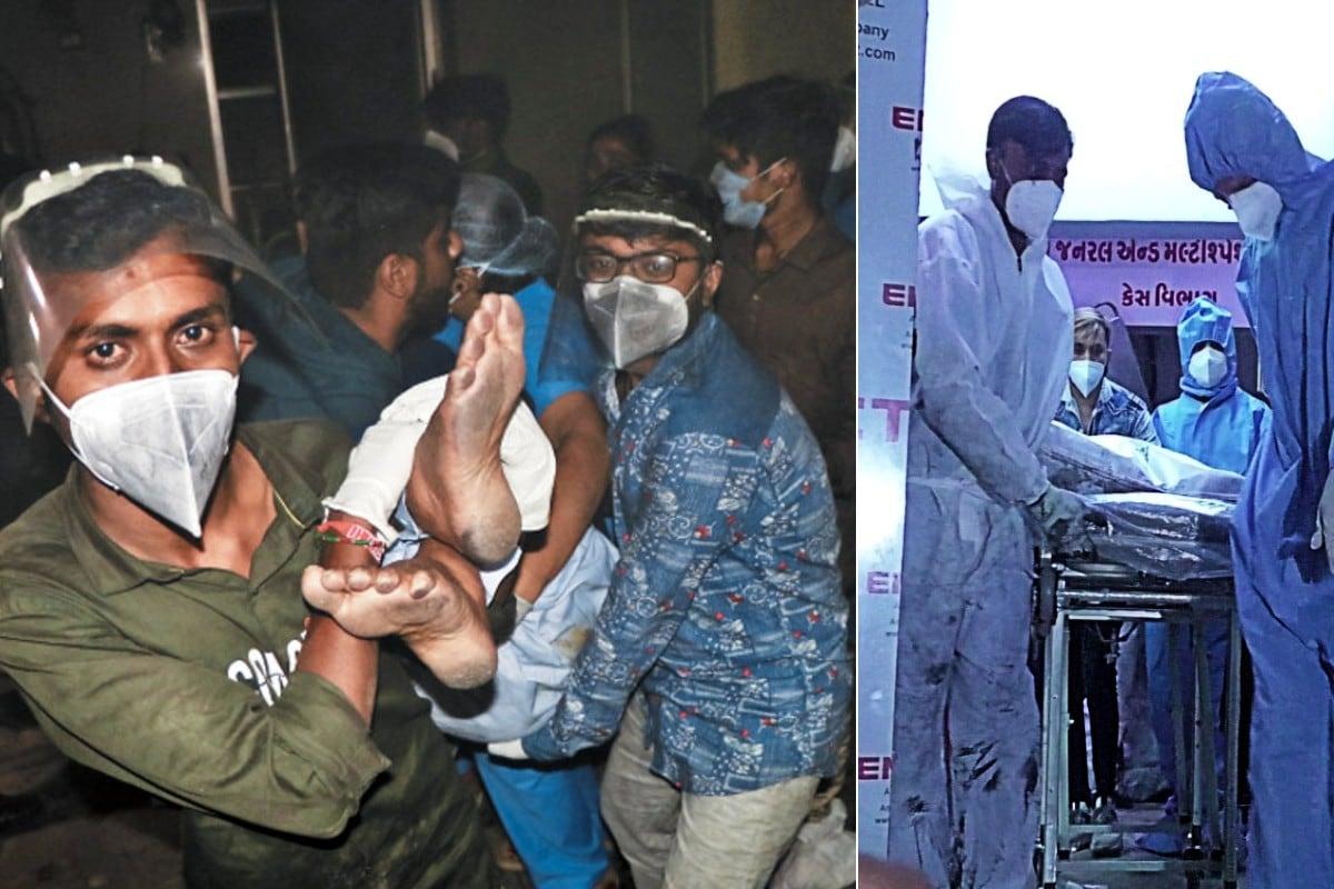 રાજકોટના (Rajkot) માલવિયાનગર પોલીસ સ્ટેશન વિસ્તારમાં આવેલ ઉદય શિવાનંદ હોસ્પિટલમાં (Uday Shivanand Covid Hospital fire) આગજનીનો બનાવ સામે આવ્યો છે. હોસ્પિટલમાં લાગેલ આગજનીના બનાવ માં અત્યાર સુધીમાં પાંચ જેટલા દર્દીઓના મૃત્યુ નિપજયા છે. ડીસીપી મનોજ સિંહ જાડેજા ના જણાવ્યા પ્રમાણે ઉદય શિવાનંદ કોવિડ હોસ્પિટલ માં કુલ 33 જેટલા દર્દીઓ સારવાર લઇ રહ્યા હતા. જે 33 દર્દીઓ પૈકી 11 દર્દીઓ આઇસીયુની અંદર સારવાર લઇ રહ્યા હતા.