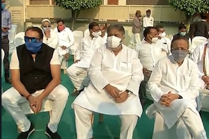 અલવિદા અહેમદ પટેલ : રાહુલ ગાંધી સહિતના નેતાઓ અંતિમ દર્શન માટે પહોંચ્યા