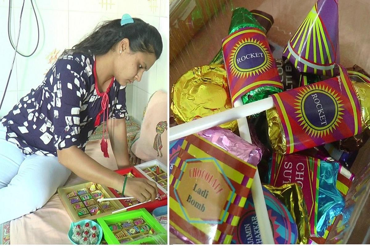 દિવાળીના (Diwali) તહેવાર પર નાનેરાથી લઇ મોટેરા સુધી સૌ કોઈ ફટાકડા (fire crackers) ફોડી દિવાળીના તહેવારની મોજ માણતા હોય છે. પરંતુ જો કોઈ આપને એમ કહે કે આપ શંભુ રોકેટ અને સૂતળી બોમ્બ ખાશો? ત્યારે તો તમને એવું જ લાગશેને કે આ તો ફટાકડાના નામ છે. આ વ્યક્તિ આપણી સાથે મજાક કરે છે. પરંતુ રાજકોટમાં (Rajkot) તમને આવું કોઇ પૂછે તો તરત જ હા પાડી દેજો. કારણ કે રાજકોટની યુવતીએ ફટાકડાના નામની ચોકલેટ (firecracker chocolate) બનાવી છે.