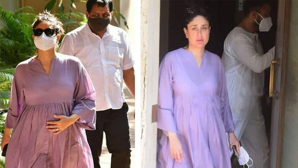 મુંબઇ પરત આવતાની સાથે કરિના વોક પર નીકળી છે. તેણે પર્પલ કલરનું ફ્રોક પહેરેલું હતું અને વધેલા પેટને પકડીને ચાલતી નજર આવી હતી. (Photo: Instagram)