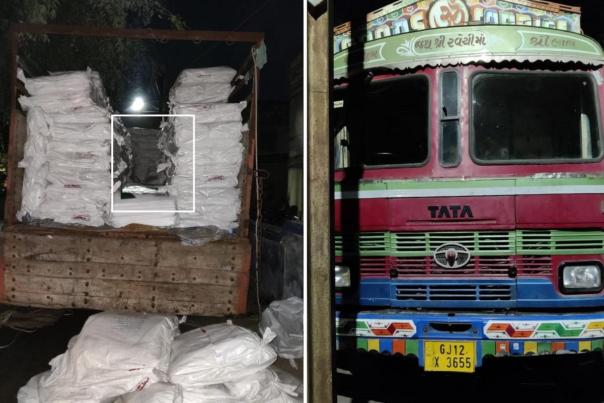 અંકિત પોપટ, રાજકોટ : ગુજરાતમાં દારૂબંધી છે પરંતુ સમયાંતરે દારૂની મહેફિલ અને દારૂનાં જથ્થા પકડાવવાના અનેક કિસ્સાઓ સામે આવતા રહ્યાં છે. થર્ટી ફર્સ્ટ ડિસેમ્બરને આડે હવે થોડા જ દિવસો બાકી છે ત્યારે રાજકોટમાંથી મોટા જથ્થામા વિદેશી દારૂનો જથ્થો ઝડપાયો છે.રાજકોટ ક્રાઇમ બ્રાન્ચ દ્વારા પ્લાસ્ટિક બારદાનની આડમાં છૂપાવવામાં આવેલો સાત લાખનો દારૂ તેમજ બિયર ભરેલા ટ્રક સાથે જામનગરના શખ્શની ધરપકડ કરવામાં આવી છે.
