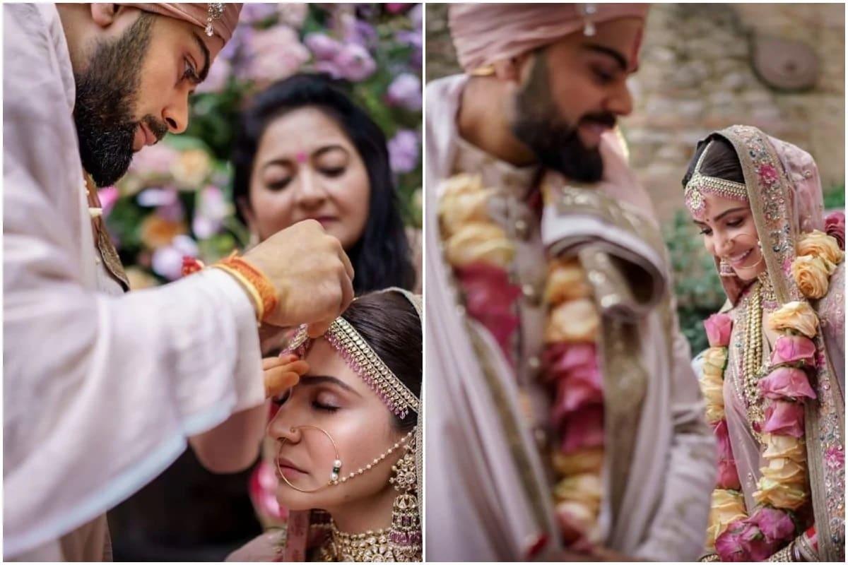 એન્ટરટેઇન્મેન્ટ ડેસ્ક: વિરાટ કોહલી અને અનુષ્કા શર્માનાં લગ્નને ત્રણ વર્ષ થઇ ગયા. 11 ડિસેમ્બર 2017નાં તેનાં લગ્ન ઇટાલીમાં લગ્ન કર્યા હતાં. વિરાટ કોહલીએ લગ્નની વર્ષગાંઠ સમયે તેનાં સોશિયલ મીડિયા પેજ પર સુંદર શેર કરી છે.