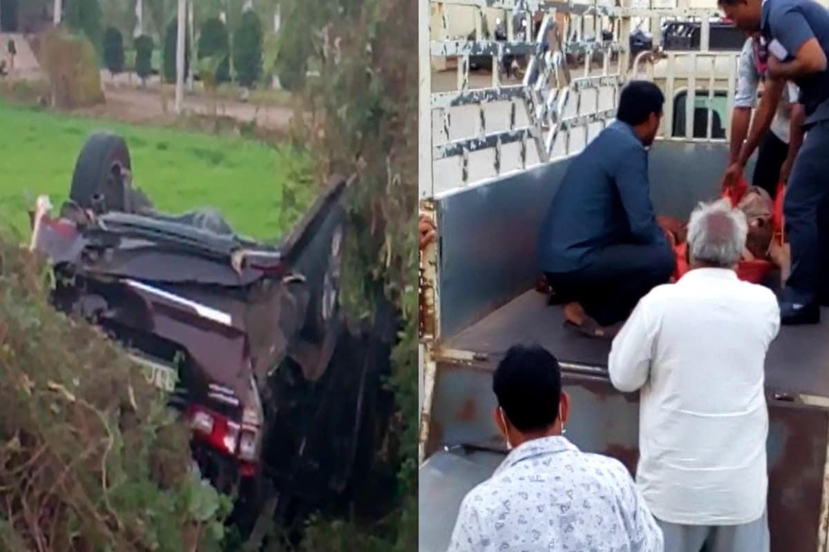 રાજન ગઢિયા, અમરેલી : અમરેલી (Amreli) નજીક આવેલી શેત્રુંજી નદીના પુલ નજીક આજે સાંજે એક કાર (Car Accident) પલ્ટી મારી જતા સુરતના (Surat) ધામેલિયા (Dhameliya family) પરિવારને ગમખ્વાર અકસ્માત નડી ગયો છે. આ અકસ્માતમાં કાર પડીકું વળી ગઈ છે જ્યારે કારમાં સવાર બે મહિલાઓનાં દુ:ખદ નિધન થયા છે. આ કરૂણાંતિકામાં કારમાં સવાર મહિલાઓનાં મૃત્યુ સમાચારના પગલે વતન સિમરણમાં શોકનું મોજું છવાઈ ગયું છે, જ્યારે 5 વ્યક્તિને ઇજા થતા અમરેલીની સિવિલ હૉસ્પિટલમાં દાખલ કરવામાં આવ્યા છે.