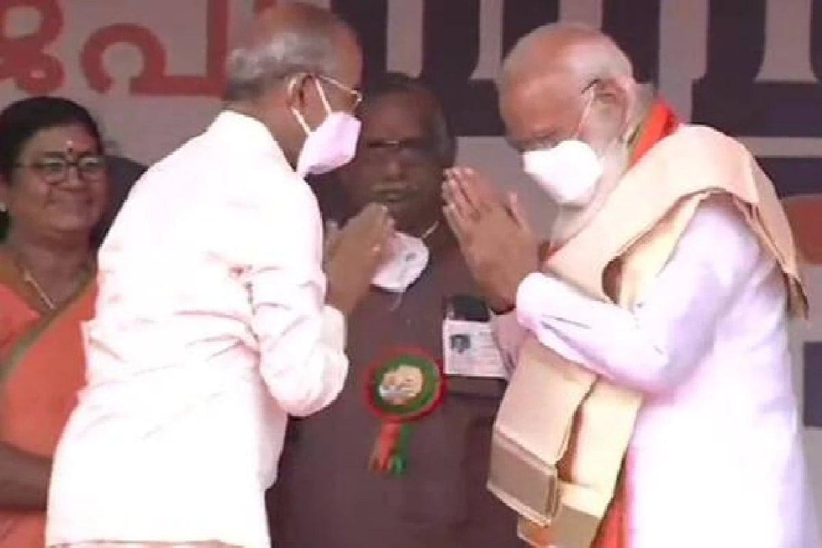 PM મોદીએ કહ્યું- પિનરાઈ વિજયને જૂડસની જેમ કેરળ સાથે દગો કર્યો, મેટ્રો મેન જ યોગ્ય વિકલ્પ