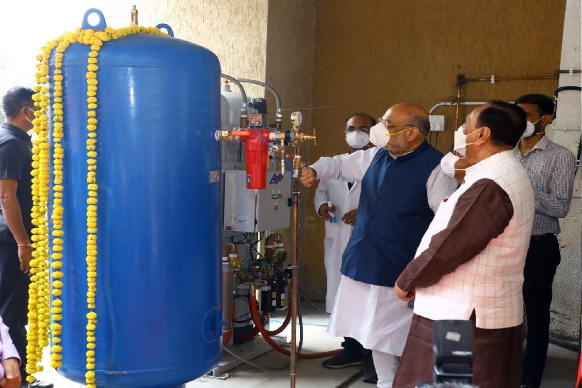 ગુજરાતની કોવીડ હૉસ્પિટલોમાં PM CARES હેઠળ 11 ઑક્સીજન પ્લાન્ટ શરૂ થશે : ગૃહમંત્રી શાહ