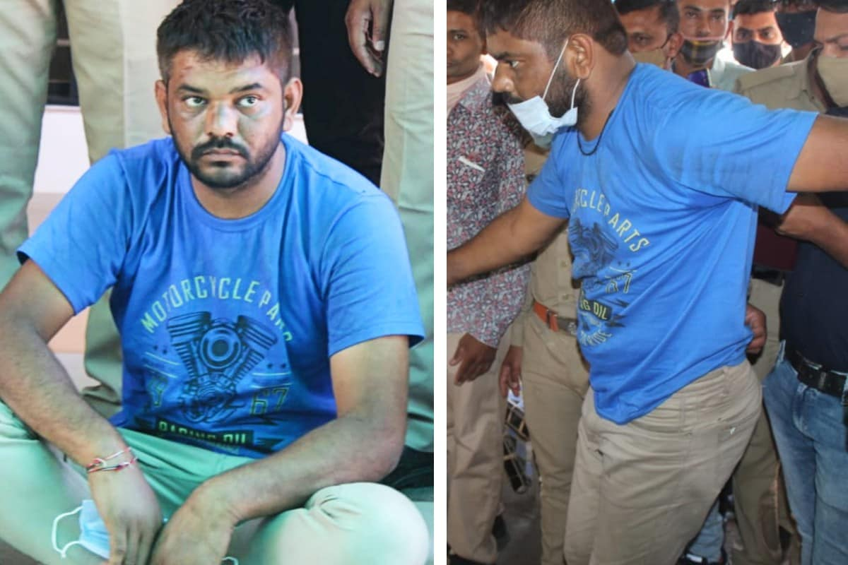 અંકિત પોપટ, રાજકોટ : રાજકોટ શહેરના (Rajkot) માલવિયાનગર પોલીસના પીએસઆઈ (attack on PSI) સહિત ત્રણ પોલીસકર્મીઓ ઉપર રાજુ ઉર્ફે કિકુ ભરવાડ અને તેના સાગરિતો દ્વારા હુમલો કરવામાં આવ્યો હતો. માલવિયાનગર પોલીસ ના ઇજાગ્રસ્ત પી.એસ.આઈ સહિતના સ્ટાફે પાંચ જેટલા આરોપીઓને ઝડપી પાડયા હતા. ત્યારે આજરોજ આરોપીઓને ઘટના સ્થળે લઇ જઇ ઘટનાનું reconstruction તેમજ પંચનામાની કાર્યવાહી કરવામાં આવી હતી. આ સમયે પોતાની ભૂલનું ભાન થતાં કુખ્યાત રાજુ ઉર્ફે કિકુ ભરવાડે માફી પણ માંગી હતી.
