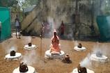 કોરોના મહામારી દૂર કરવા રાજકોટના મહંતે 21 દિવસ સુધી મૌન વ્રત પાળી 7 ધૂણી તપસ્યા શરૂ કરી