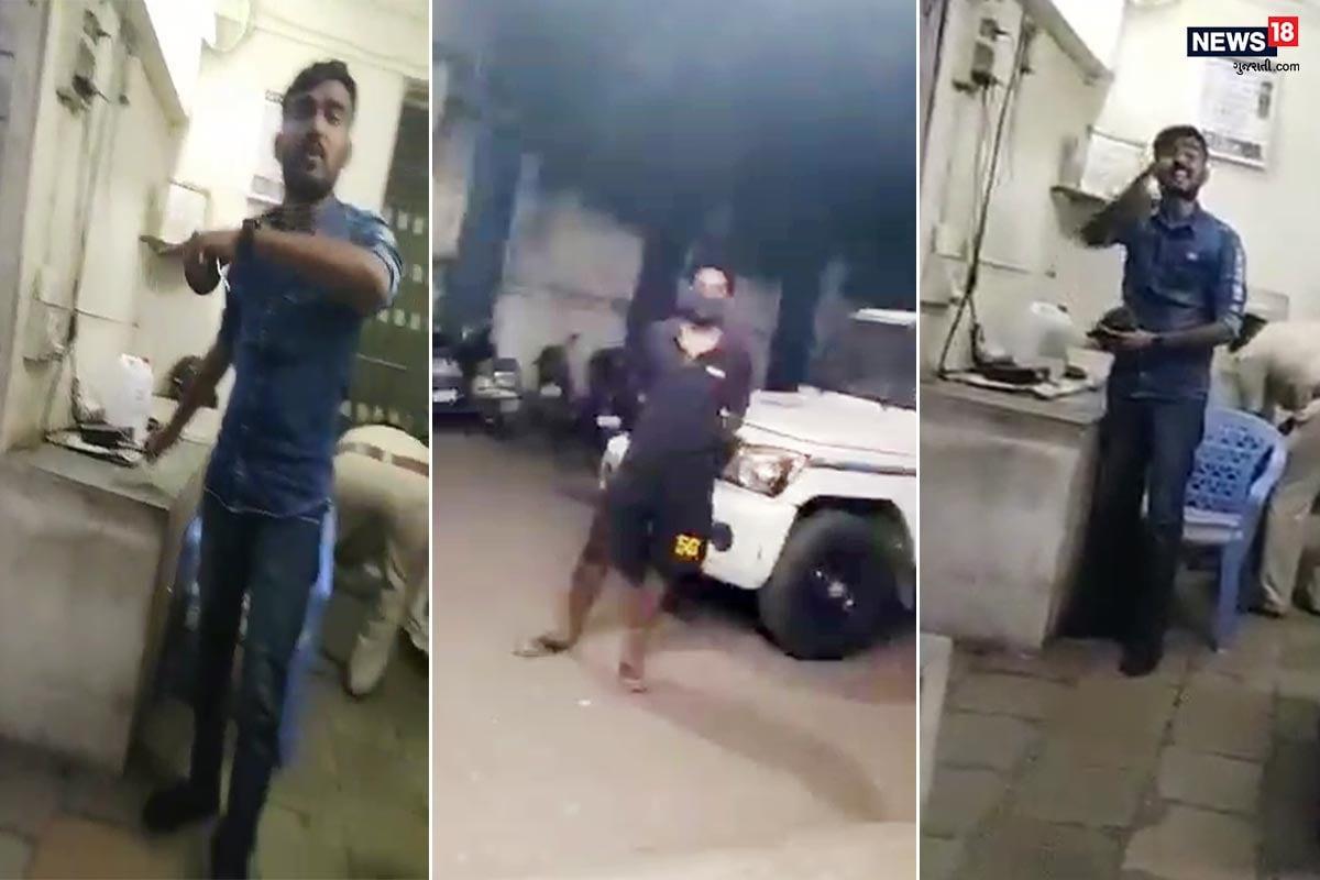 સુરત : યુવક હાફ પેન્ટ પહેરીને જામીન દેવા આવ્યો, પોલીસે કર્યુ એવું કે Video થયો Viral