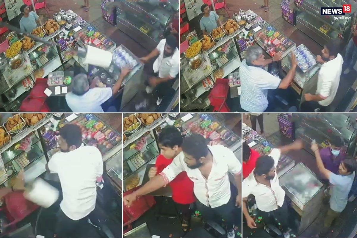 સુરત : ભરવાડ શખ્સની દાદાગીરીનો Viral Video, કામરેજની વિજય હોટલમાં મચાવ્યો આતંક