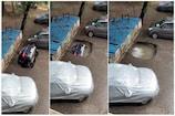 મુંબઈઃ જોત જોતામાં આખે આખી કાર જમીનમાં સમાઈ ગઈ, video થયો viral