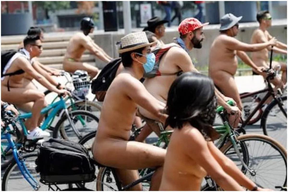 ન પેન્ટ, ન શર્ટ અને Underwear પણ નહીં, Naked Bike Rideમાં પહેરવો પડશે માત્ર માસ્ક