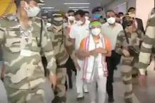 મીરાબાઈ ચાનૂનું દેશમાં થયું જોરદાર સ્વાગત, એરપોર્ટ પર લાગ્યા 'ભારત માતા કી જય'ના નારા, જુઓ