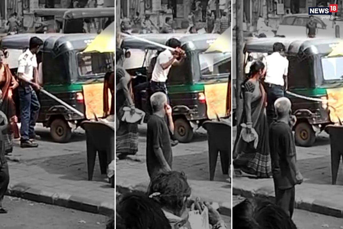 સુરત : બેફામ TRB જવાનની દાદાગીરીનો Viral Video, રીક્ષા પર દંડાવાળી કરી નુકસાની કરી