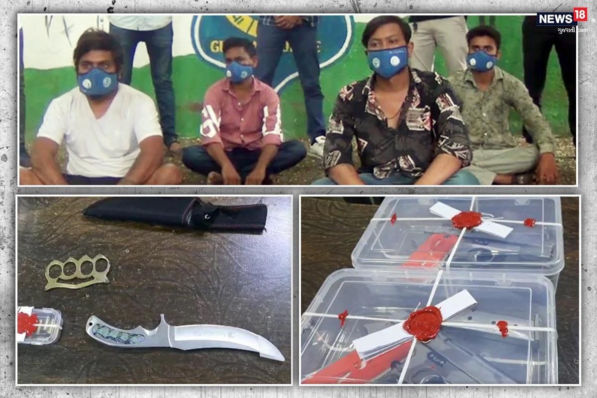 કિર્તેશ પટેલ, સુરત : સુરત (Surat) શહેરમાં ગેંગવોર (Gangwar) થાય તે પહેલાં જ પુણા પોલીસે (Police) ઘાતક હથિયારો (Weapons) સાથે ચાર આરોપીઅઓને ઝડપી પાડી મહત્વની સફળતા હાંસલ કરી છે. પોલીસે પકડેલાં ચાર આરોપીઓ પૈકી બે સુર્યા મરાઠીના (Surya Marahi) માણસો હોવાનું બહાર આવ્યુ છે. પોલીસે આરોપીઓ પાસેથી બે પિસ્તોલ , 14 કારતુસ , ઍક રેમ્બો છરો અને પંચ સહિત રૂપિયા બાવન હજારથી વધુનો મુદ્દામાલ કબ્જે કર્યો છે.