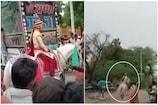 લગ્નમાં ભડકેલી ઘોડી દુલ્હાને લઈને ભાગી, પરિવારજનો કાર લઈને કર્યો 4 km સુધી પીછો