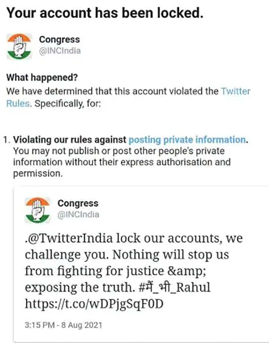 congress twitter account locked