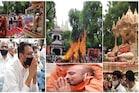 હરિપ્રસાદ સ્વામીજી પંચમહાભૂતોમાં વિલીનઃ પાલખી યાત્રાથી લઈને અગ્નીદાહ સુધી, જુઓ PHOTOS