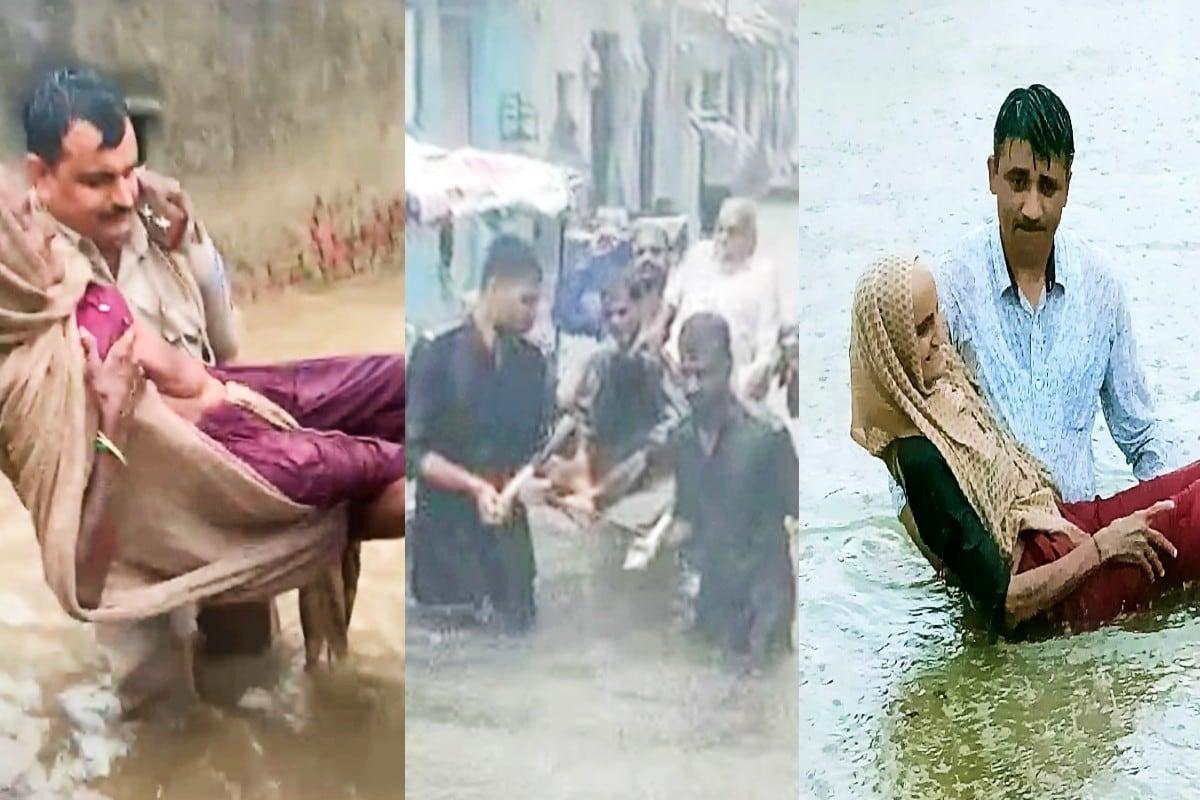 Gujarat Policeની બહાદુરીનો Viral video, વરસાદમાં ફસાયેલા લોકોનાં જીવ આમ બચાવ્યા