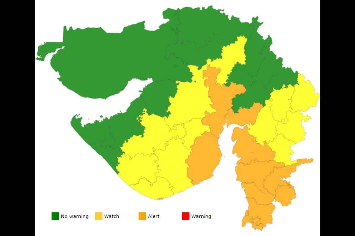 બંગાળની ખાડીમાં સર્જાયેલું વાવાઝોડું ડિપ્રેશન પરિવર્તિત થયું, સૌરાષ્ટ્ર અને દક્ષિણ ગુજરાતના ભારેથી અતિભારે વરસાદની આગાહી