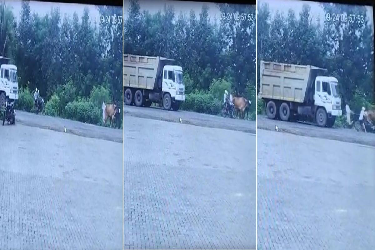 સુરત Accident Video: બાઈક બળદને ભટકાયું, યુવાનો રોડ પર પડતા ડમ્પર ફરી વળ્યું, કરૂણ મોત