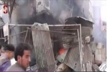 دمشق کے نزدیک فضائی حملوں میں 50 سے زیادہ افراد ہلاک