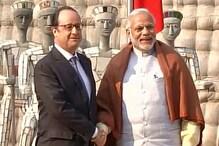 راک گارڈن کی سیر کراکر وزیر اعظم مودی نے کیا فرانسیسی صدر اولاند کا استقبال