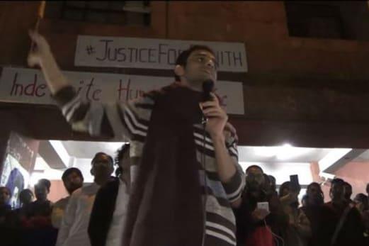 غداری کے مقدمہ میں عبوری ضمانت پر رہا ہونے والے جے این یو کے طالب علم عمر خالد ایمس میں داخل