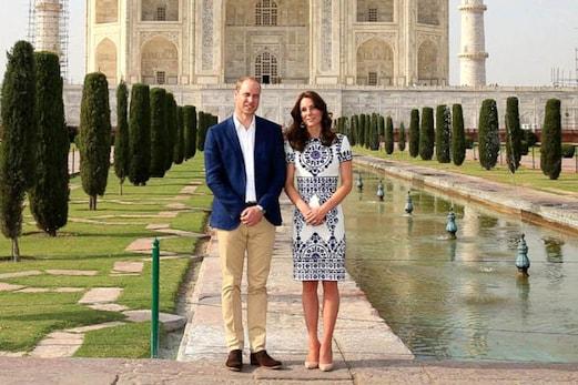 برطانیہ کے شاہی جوڑے نے تاج محل کا کیا دیدار