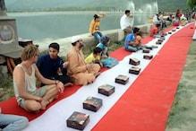 وادی کی مشہور ڈل جھیل پر گرانڈ افطارپارٹی ، غیرملکی سیاحوں نے بھی کی شرکت